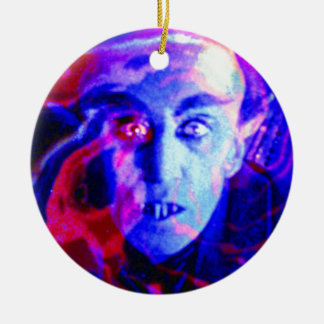 Groovy Nosferatu Double-Sided Ceramic Round Christmas Ornament