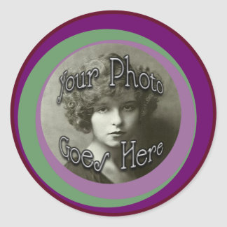 Groovy O Picture Hole Classic Round Sticker