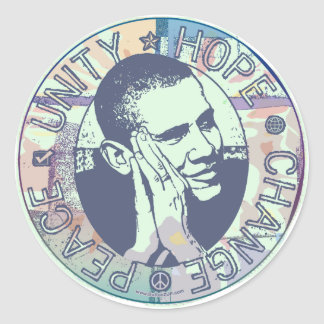 Groovy Obama 2008 Gear Classic Round Sticker