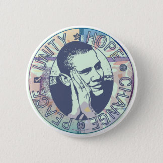 Groovy Obama 2008 Gear Pinback Button