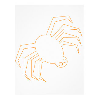 Groovy Orange Halloween Spider Letterhead