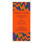 groovy orange purple rack card template