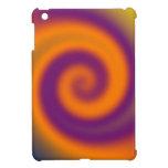 Groovy Orange Purple Swirl Art iPad Mini Case