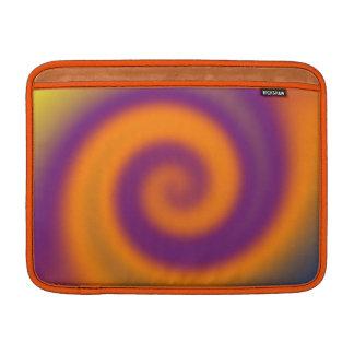 groovy orange purple twirl MacBook air sleeve
