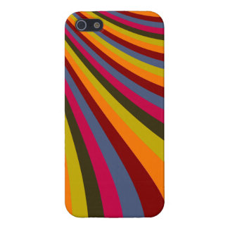 Groovy Orange Red Pink Green Rainbow Slide Stripes Cover For iPhone SE/5/5s