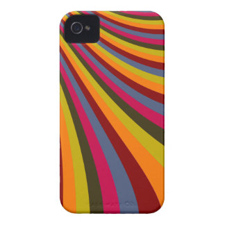 Groovy Orange Red Pink Green Rainbow Slide Stripes iPhone 4 Case-Mate Case