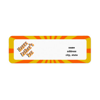 Groovy Orange Retro For Father's Day Return Address Label