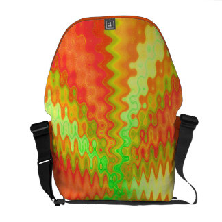 groovy orange yellow abstract courier bag