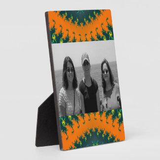 Groovy orange yellow abstract plaque