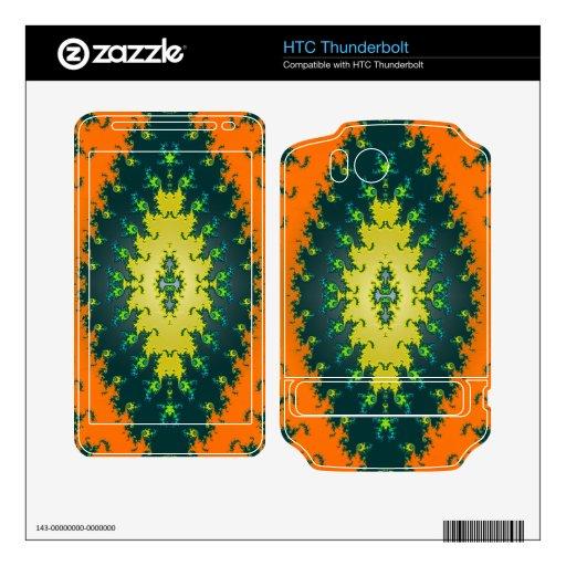 groovy orange yellow black HTC thunderbolt skins