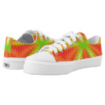 Groovy Orange Yellow Green Vibes Abstract Printed Shoes