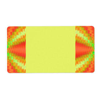 groovy orange yellow shipping label