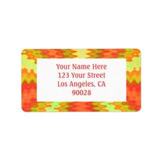 groovy orange yellow label