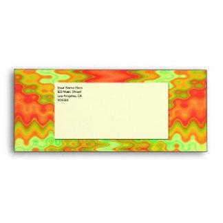 groovy orange yellow sunshine pattern envelope