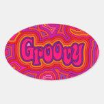 Groovy Oval Sticker