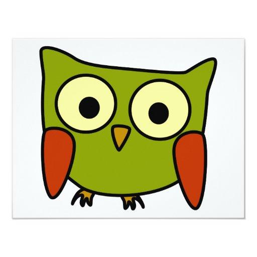 Groovy Owl 4.25x5.5 Paper Invitation Card