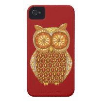Groovy Owl iPhone 4/4S Case-Mate Barely There Case