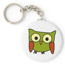 Groovy Owl Keychain