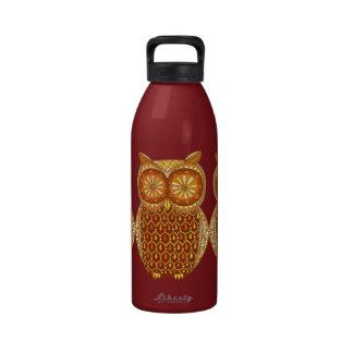 Groovy Owl Water Bottle Drinking Bottle