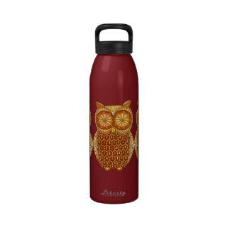 Groovy Owl Water Bottle