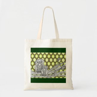 Groovy Owls Budget Tote bag