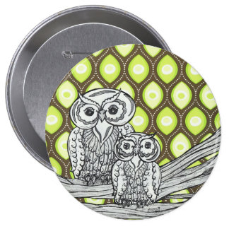 Groovy Owls Button