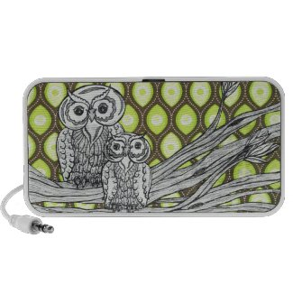 Groovy Owls Speaker doodle