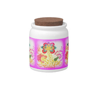 groovy palm trees candy jar