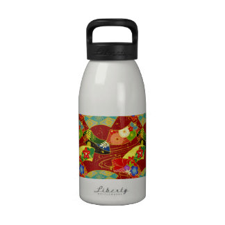 Groovy Patterns and Flowers Drinking Bottle