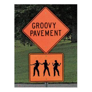 Groovy Pavement Postcard