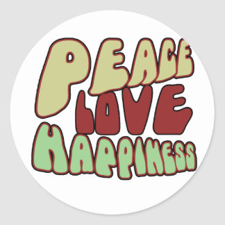 Groovy Peace Classic Round Sticker