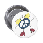 Groovy Peace Dude Buttons