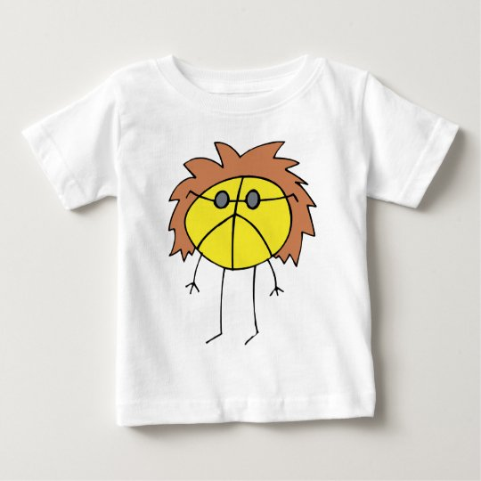 Groovy Peace Dude in Yellow Baby T-Shirt