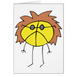Groovy Peace Dude in Yellow Greeting Card
