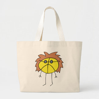 Groovy Peace Dude in Yellow Jumbo Tote Bag