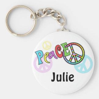 Groovy Peace Gift Keychain