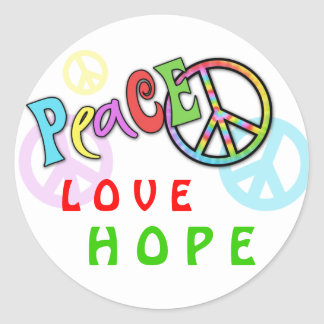 Groovy Peace Gift Round Stickers