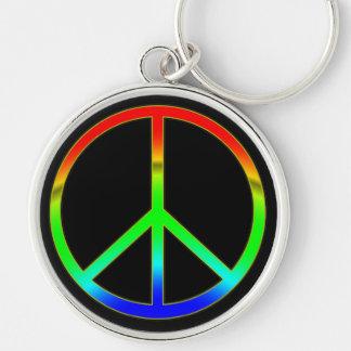 Groovy Peace Sign Keychain