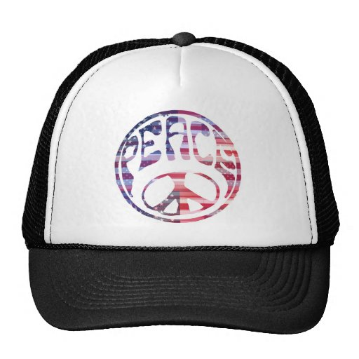 Groovy Peace Sign Mesh Hat