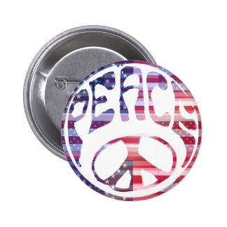 Groovy Peace Sign Pinback Button