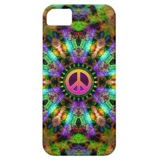 Groovy Peace Sign Rainbow Joy iPhone 5 Case