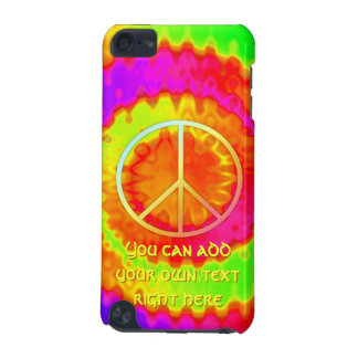 Groovy Peace Sign Tie-Dye iPod Case