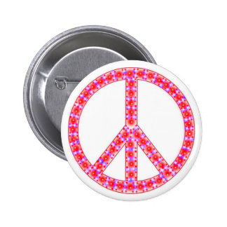 Groovy Peace Sign With Spots Buttons