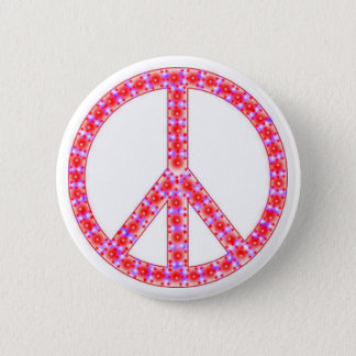 Groovy Peace Sign With Spots Pinback Button