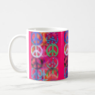GROOVY PEACE SIGNS COFFEE CUP (MUG)