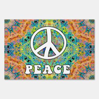 Groovy Peace Yard Sign
