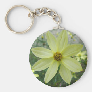 Groovy Petals Pale Yellow Bloom Keychain