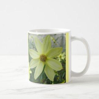 Groovy Petals Pale Yellow Flower Mug