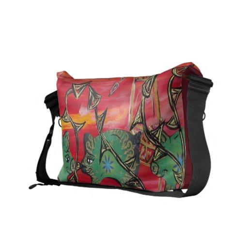 Groovy Pigs Messenger Bags