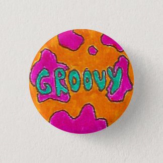 Groovy Pinback Button